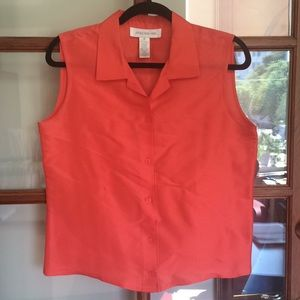 Jones New York 100% Silk Sleeveless Blouse